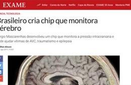 """<h6><a href=""""https://exame.com/ciencia/brasileiro-cria-chip-que-monitora-cerebro/"""">Brasileiro cria chip que monitora cérebro</a></h6><p><a href=""""https://exame.com/ciencia/brasileiro-cria-chip-que-monitora-cerebro/"""" target=""""_blank"""" rel=""""noopener"""">Revista Exame</a></p>"""