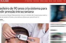 """<h6><a href=""""https://exame.com/ciencia/brasileiro-de-90-anos-cria-sistema-para-medir-pressao-intracraniana/"""">Brasileiro de 90 anos cria sistema para medir pressão intracraniana</a></h6><p><a href=""""https://exame.com/ciencia/brasileiro-de-90-anos-cria-sistema-para-medir-pressao-intracraniana/"""" target=""""_blank"""" rel=""""noopener"""">Revista Exame</a></p>"""